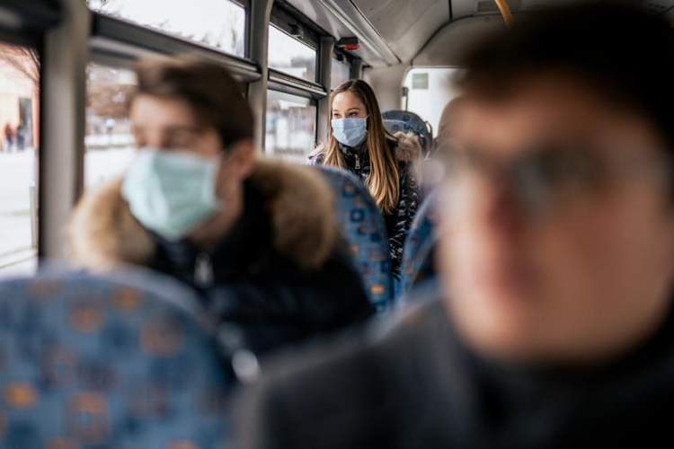 Masks on a bus